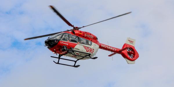 """Ab sofort startet die Crew von """"Christoph 42"""" mit einer hochmodernen H145 zu ihren lebensrettenden Einsätzen (Quelle: DRF Luftrettung)."""
